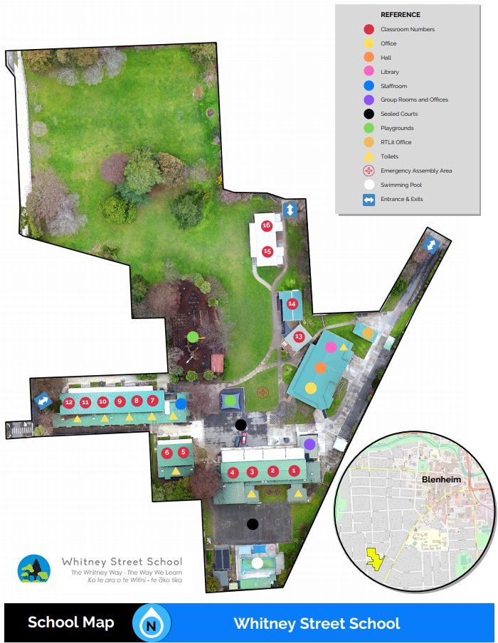 School Map, Whitney Street School